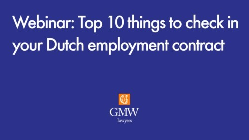 Click to watch the webinar: Top 10 things to check in a Dutch employment contract